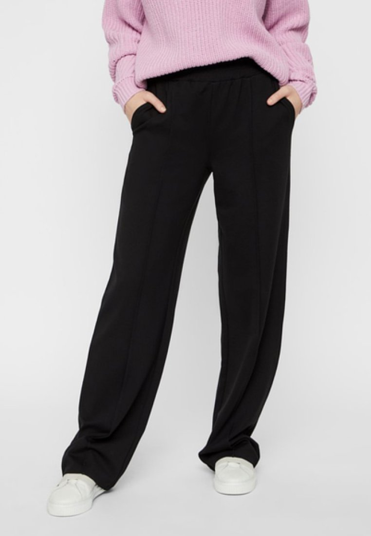 Pieces - Trousers - black