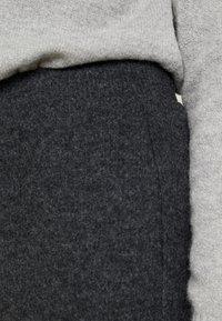 Pieces - Trousers - dark grey melange - 4