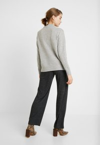 Pieces - Trousers - dark grey melange - 2