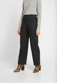 Pieces - Trousers - dark grey melange - 0