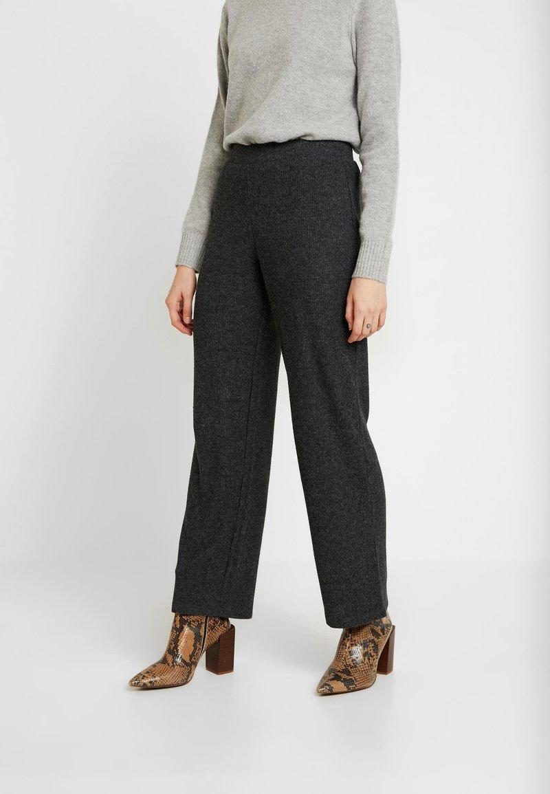 Pieces - Trousers - dark grey melange
