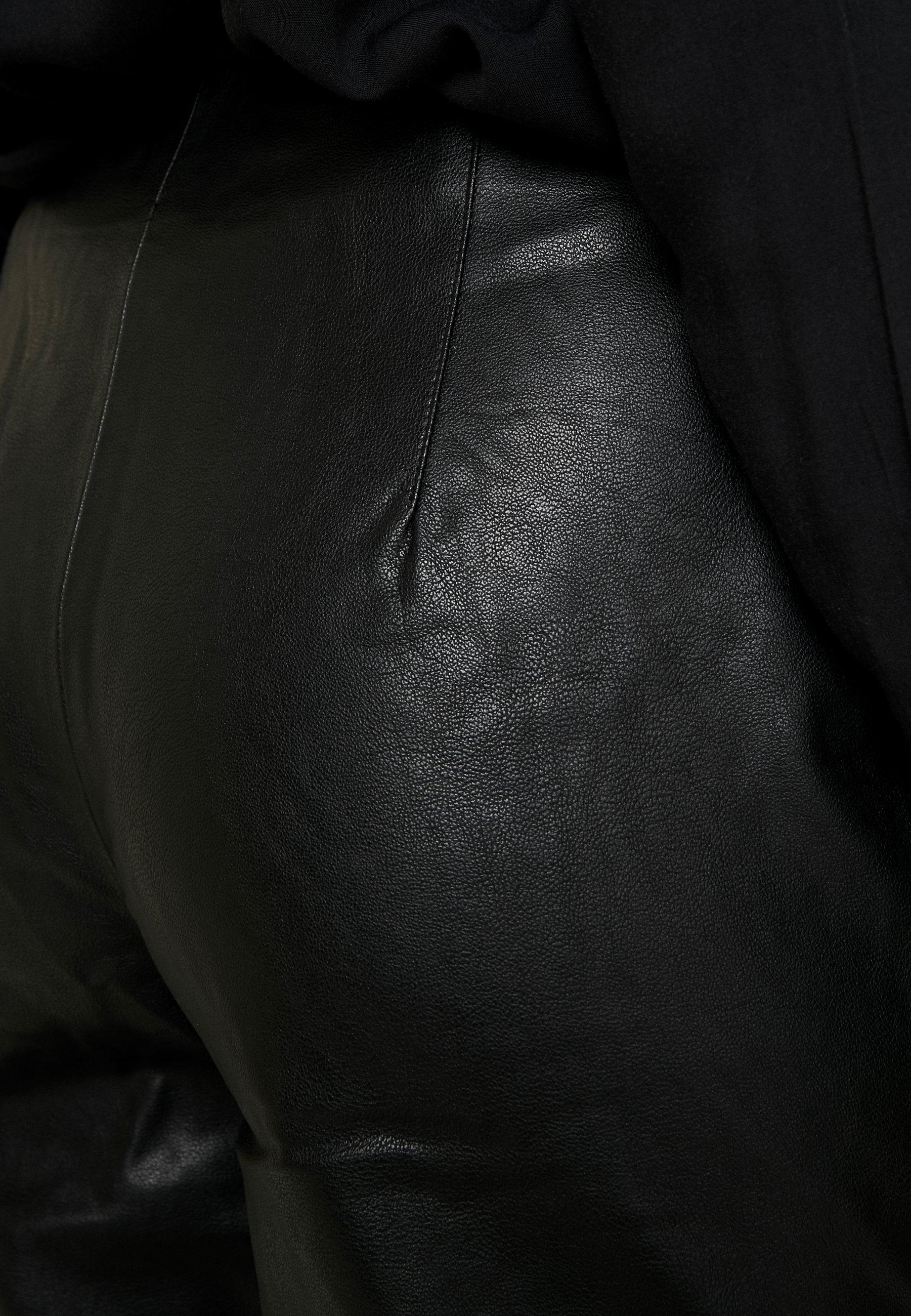 Pieces Stoffhose black