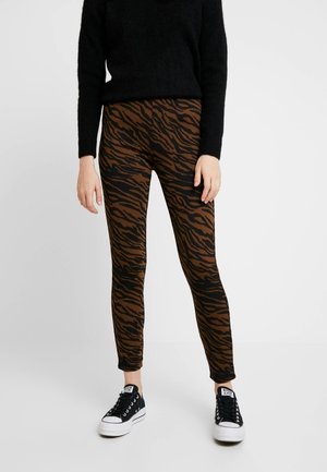 Leggings - Trousers - black/brown
