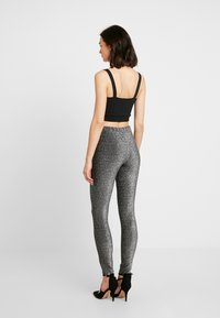 Pieces - Trousers - black/silver - 2