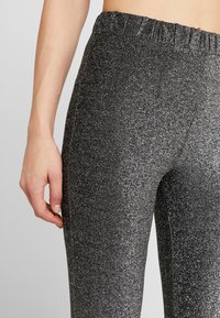 Pieces - Trousers - black/silver - 4