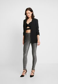 Pieces - Trousers - black/silver - 1