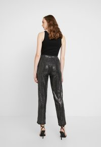 Pieces - Leggings - black/silver - 2