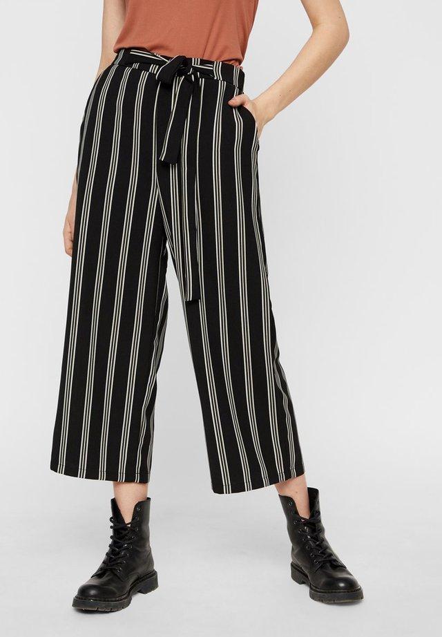 CULOTTES BINDEGÜRTEL - Spodnie materiałowe - black 3