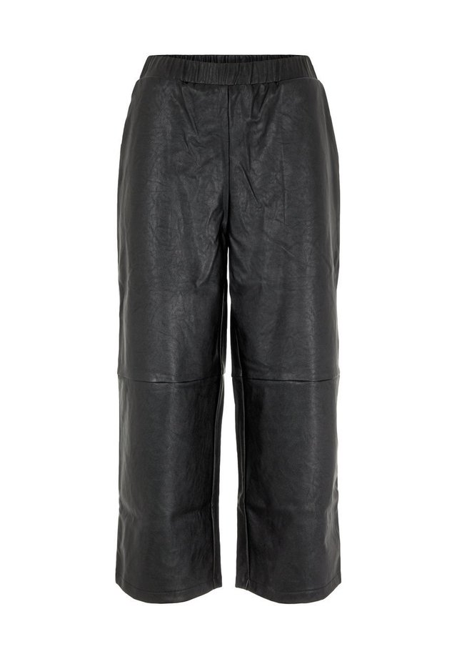 CULOTTES HIGH WAIST - Spodnie materiałowe - black