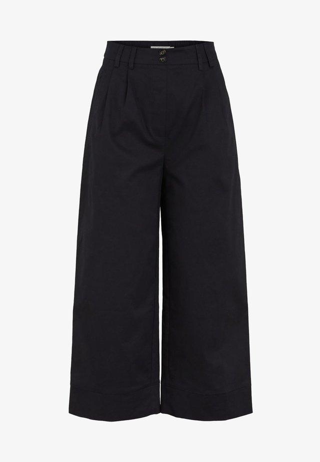 LOOSE FIT - Spodnie materiałowe - black