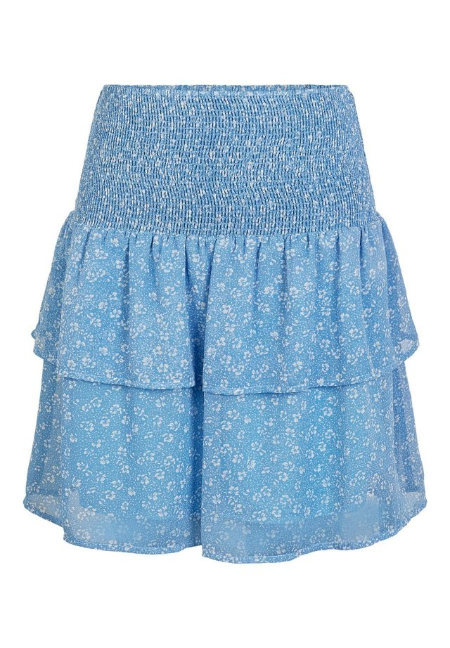 A-snit nederdel/ A-formede nederdele - lichen blue