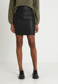 Pieces - PCPARO SKIRT - Gonna a tubino - black - 0