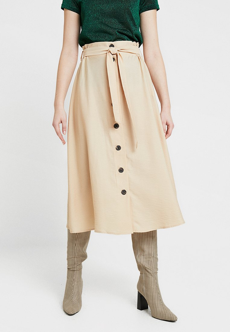 Pieces - PCELSA LONG SKIRT - A-line skirt - warm sand