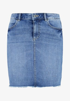 PCAIA SKIRT - Gonna di jeans - light blue denim