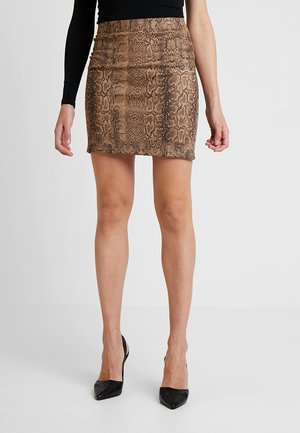 PCSERANA SKIRT  - Mini skirt - light brown