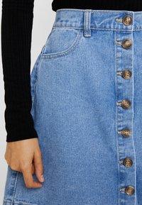 Pieces - A-line skirt - light blue denim - 4