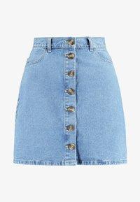 Pieces - A-line skirt - light blue denim - 3