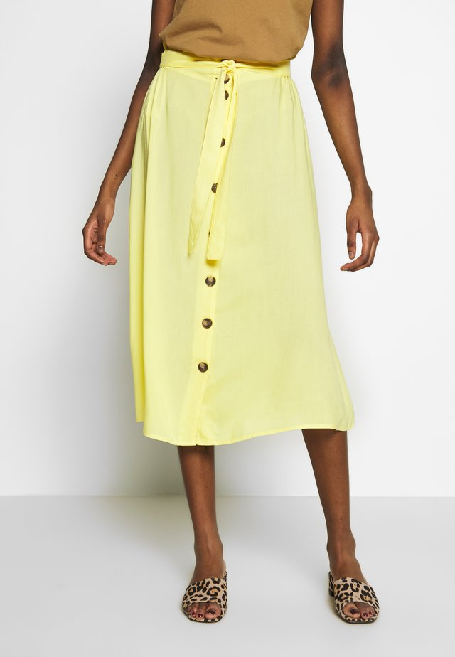 PCELSA SKIRT  - Áčková sukně - lemon drop