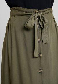 Pieces - PCELSA SKIRT  - A-line skirt - kalamata - 4