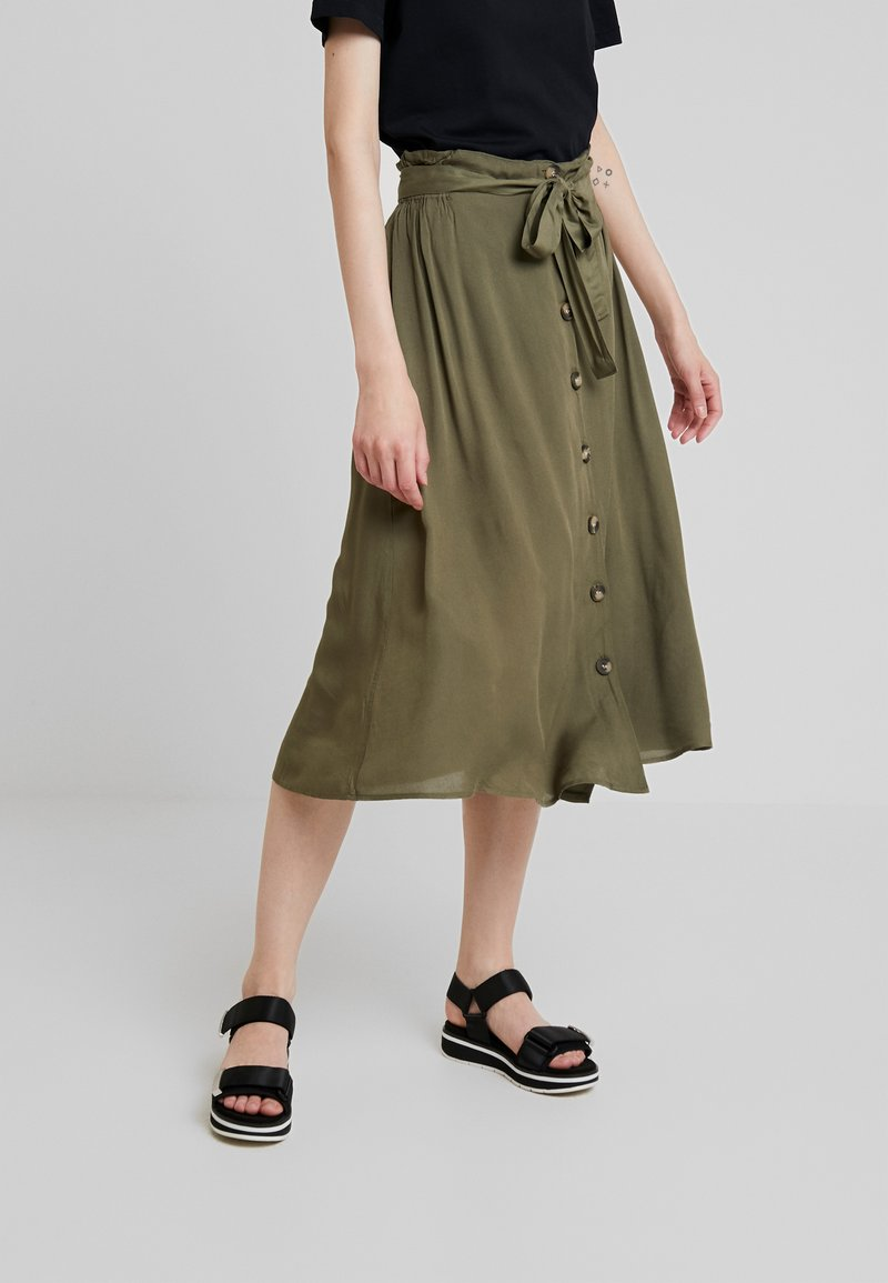 Pieces - PCELSA SKIRT  - A-line skirt - kalamata