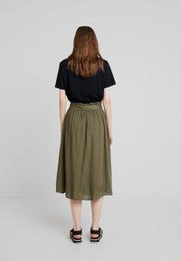 Pieces - PCELSA SKIRT  - A-line skirt - kalamata - 2
