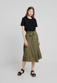 Pieces - PCELSA SKIRT  - A-line skirt - kalamata - 1