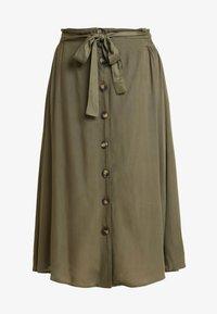 Pieces - PCELSA SKIRT  - A-line skirt - kalamata - 3