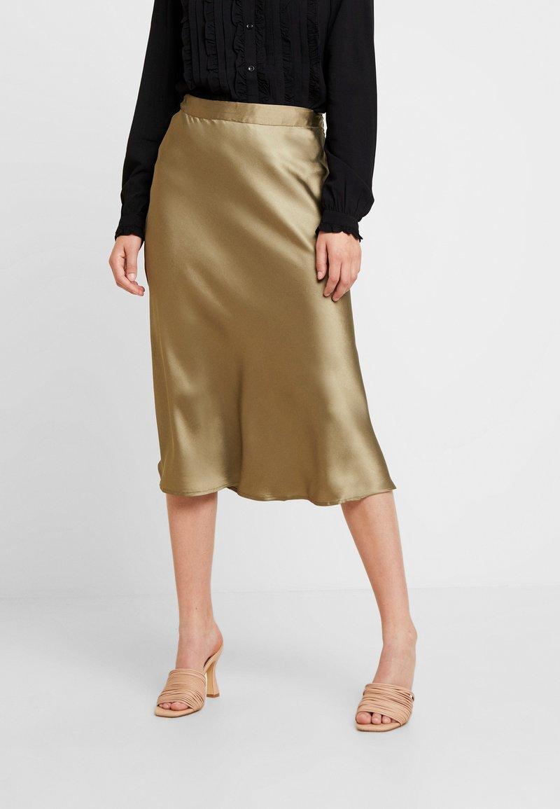 Pieces - PCJACOBINE SKIRT - A-line skirt - deep lichen green