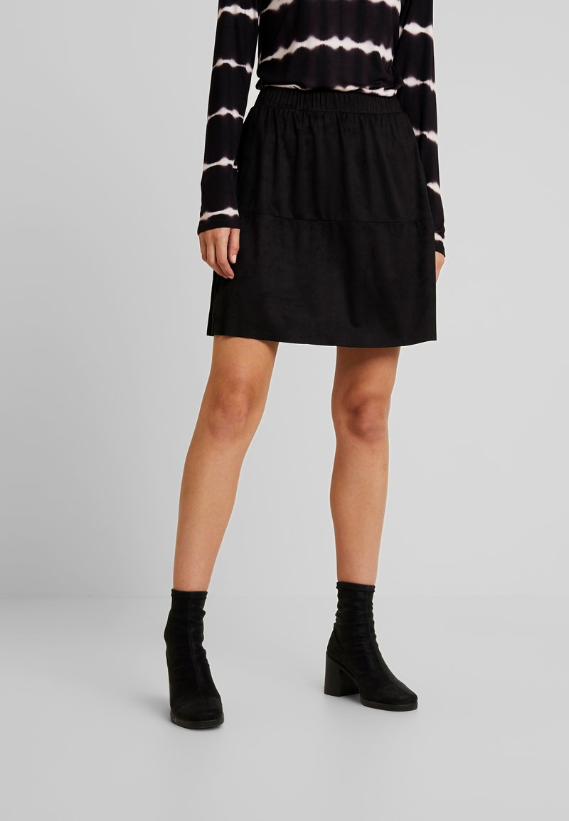 Pieces - PCSOLA SKIRT - A-line skirt - black