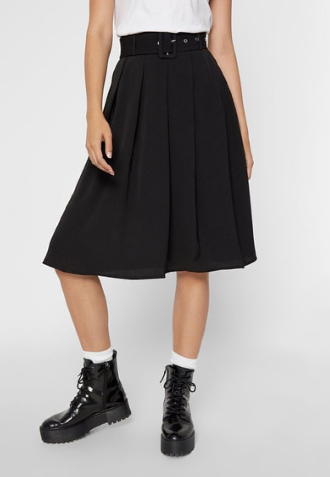 Pieces - A-line skirt - black
