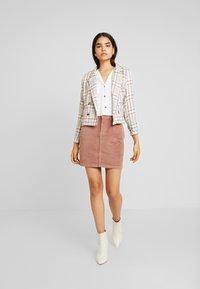 Pieces - Mini skirt - cognac - 1