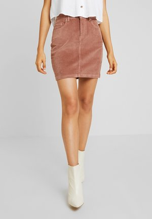 Mini skirt - cognac