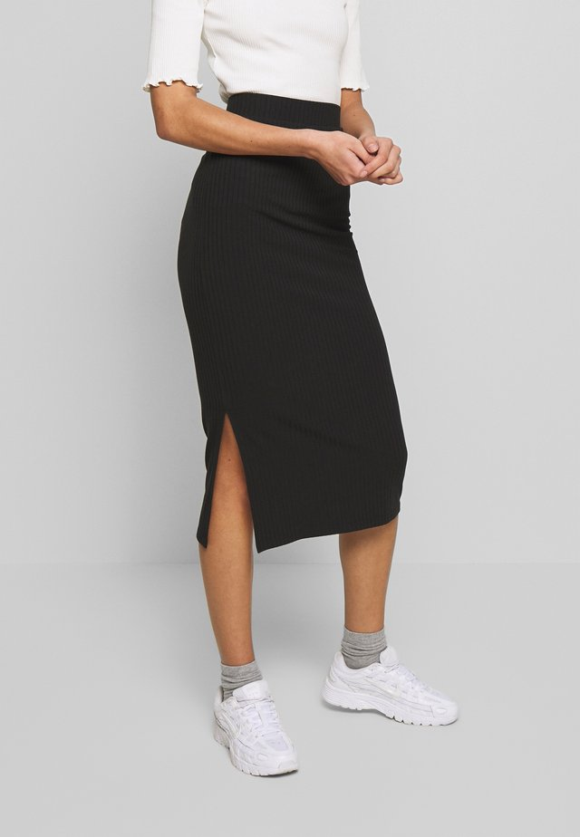 PCKYLIE MIDI SKIRT  - Gonna a tubino - black