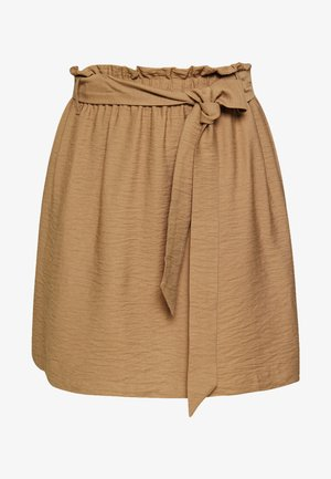 PCNYKKE SKIRT - Mini skirt - toasted coconut