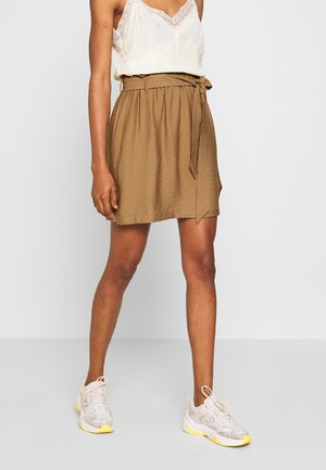 PCNYKKE SKIRT - Minijupe - toasted coconut