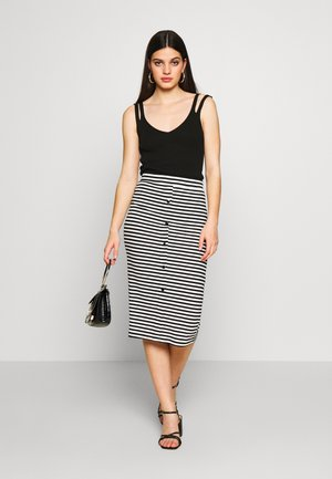 PCNOSINA PENCIL SKIRT - Pencil skirt - cloud dancer/black