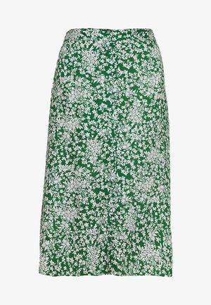 PCANGILICA MIDI SKIRT - A-line skjørt - verdant green/boho flowers