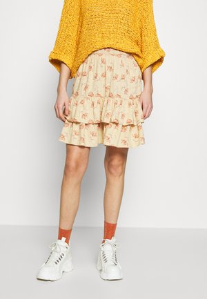 PCCOLL SKIRT - Mini skirt - warm sand