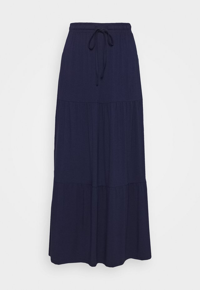 PCNEORA ANKLE SKIRT - Długa spódnica - maritime blue