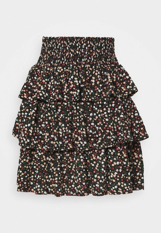 PCAMELINE SKIRT - A-line skirt - black