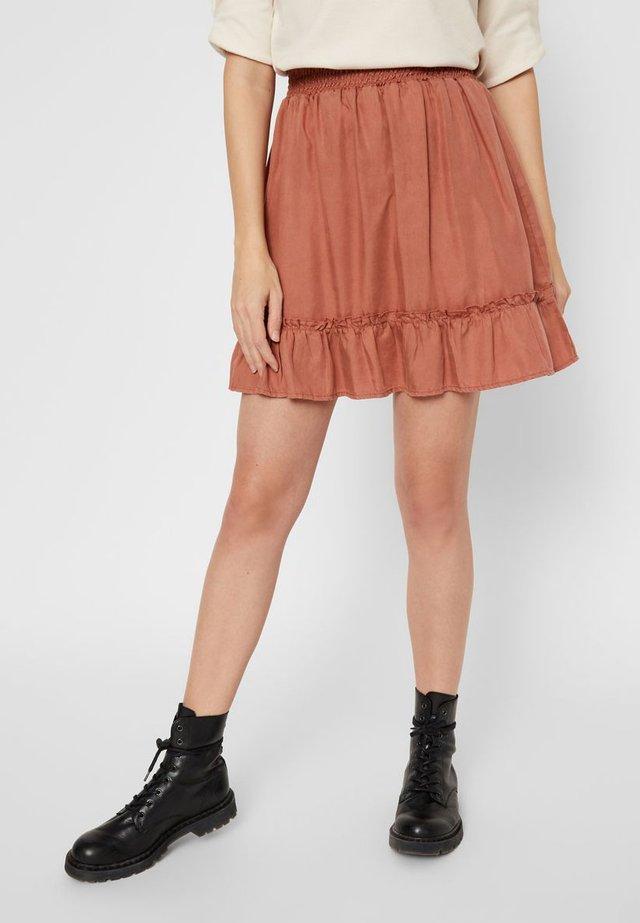 A-lijn rok - copper brown