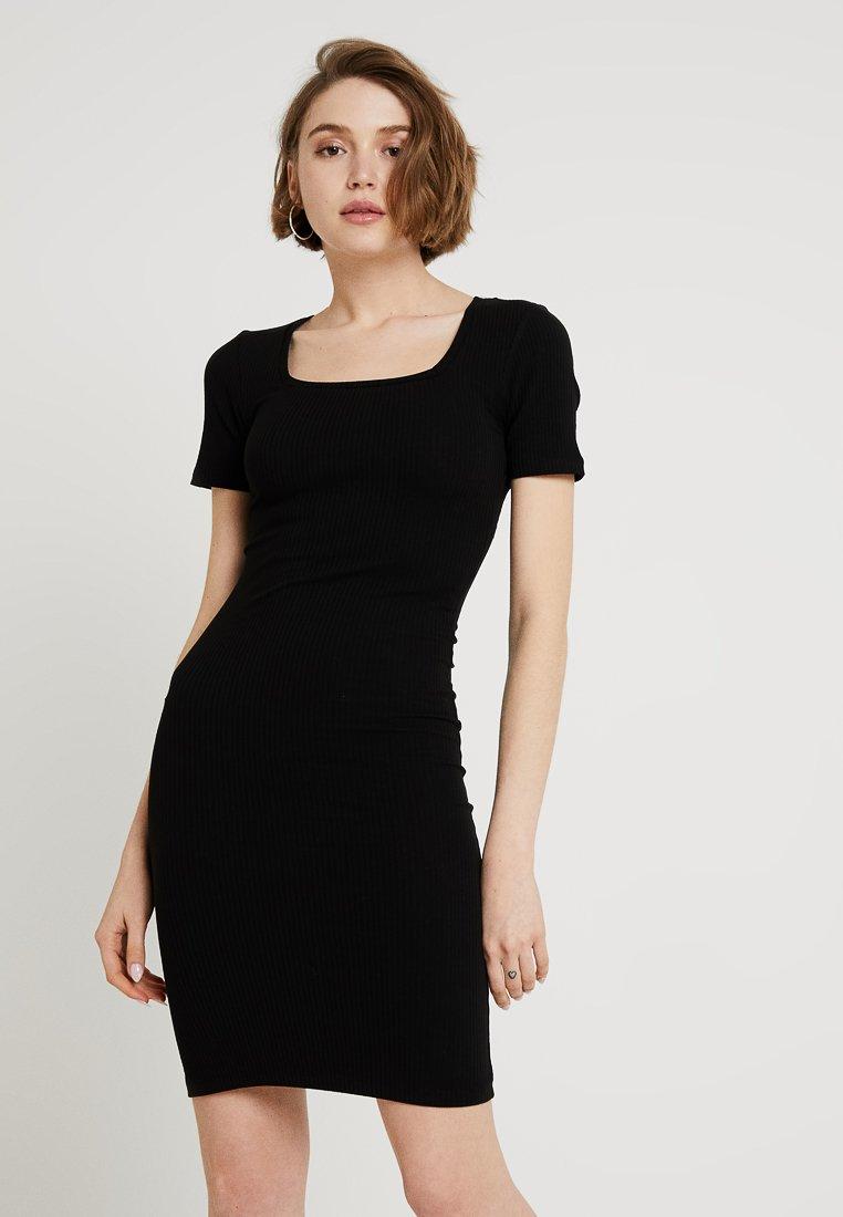 Pieces - Shift dress - black