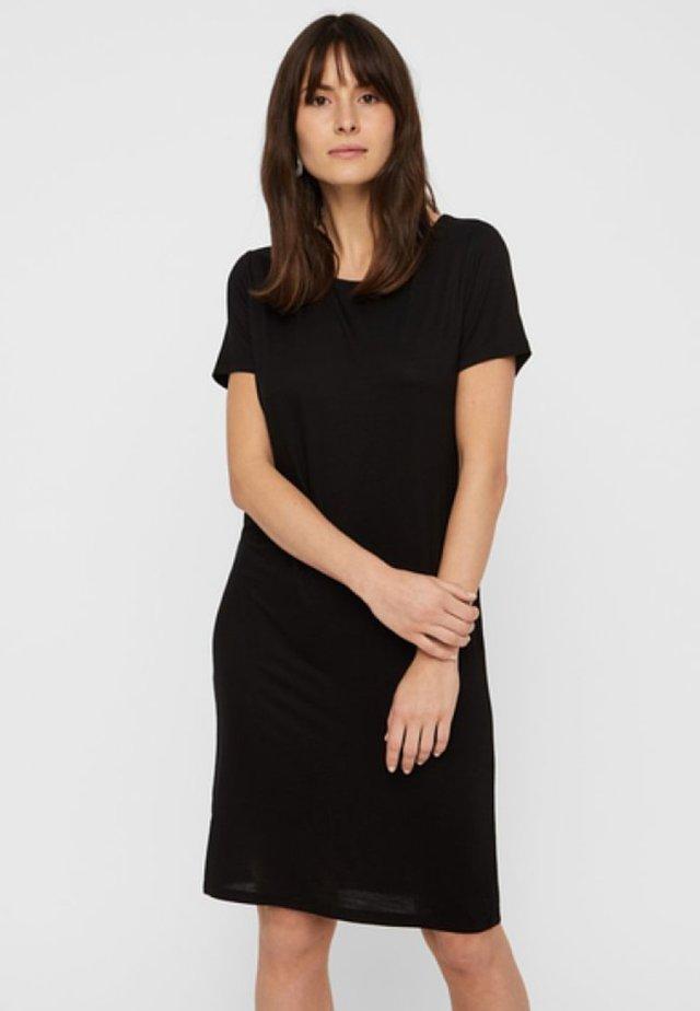 PCBILLO SS DRESS NOOS - Žerzejové šaty - black