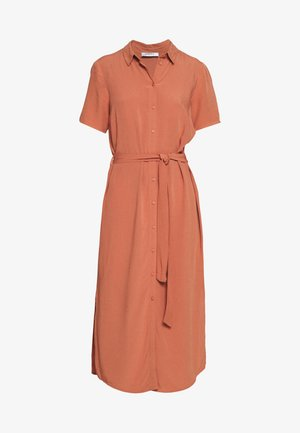 PCCECILIE DRESS - Vestido camisero - copper brown