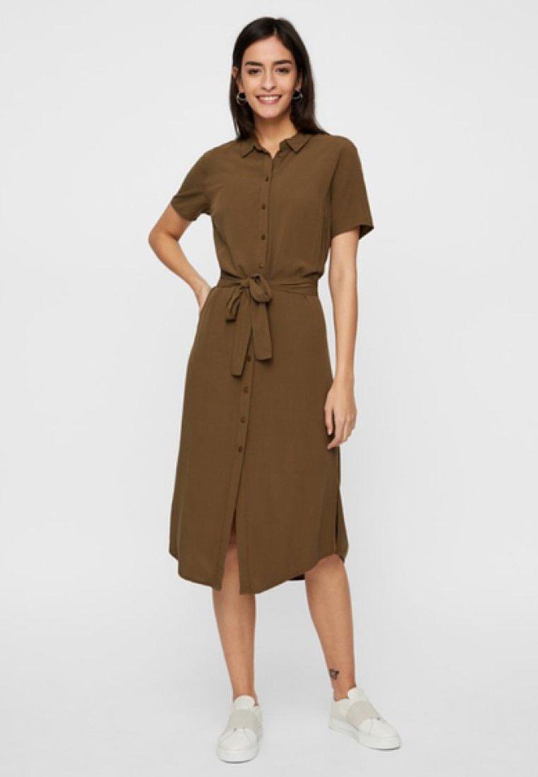 Pieces - Vestido camisero - olive
