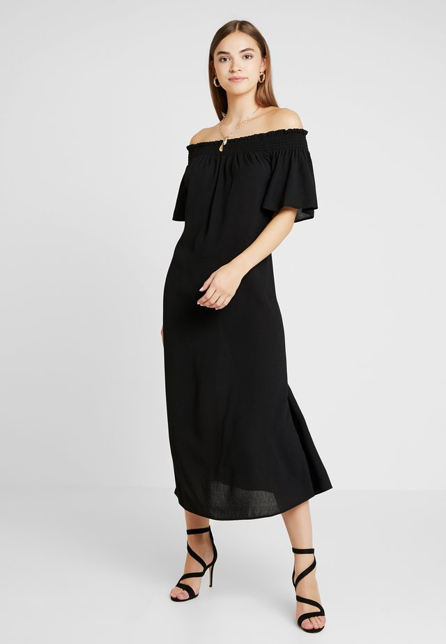 PCEMSA OFF SHOULDER MIDI DRESS - Vestito lungo - black