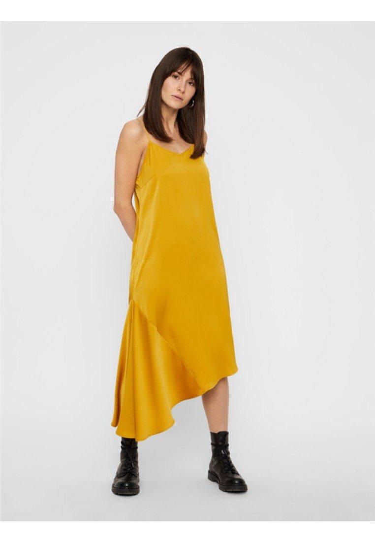 Pieces - Maxiklänning - yellow