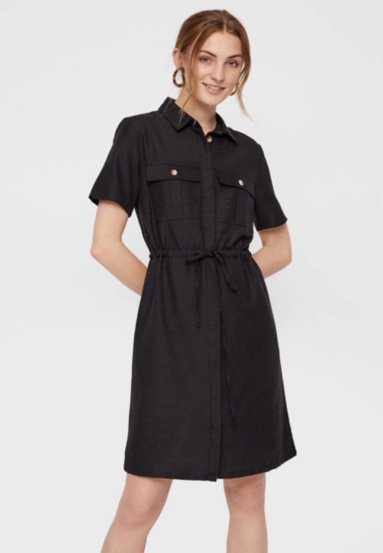 Pieces - Vestido camisero - black
