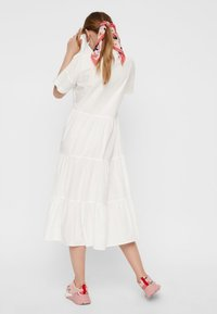 Pieces - CASUAL FIT - Vestido largo - bright white - 2