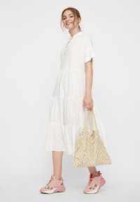 Pieces - CASUAL FIT - Vestido largo - bright white - 1